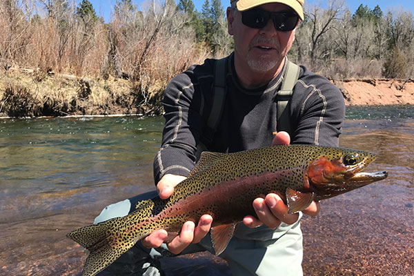 Rainbow from a guide trip to the South Platte.