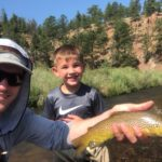Guided Fly Fishing for kids in Deckers Colorado.
