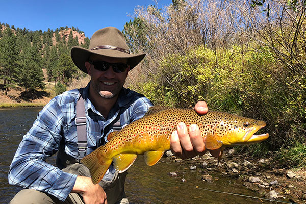 Deckers brown trout,Fall Fly Fishing