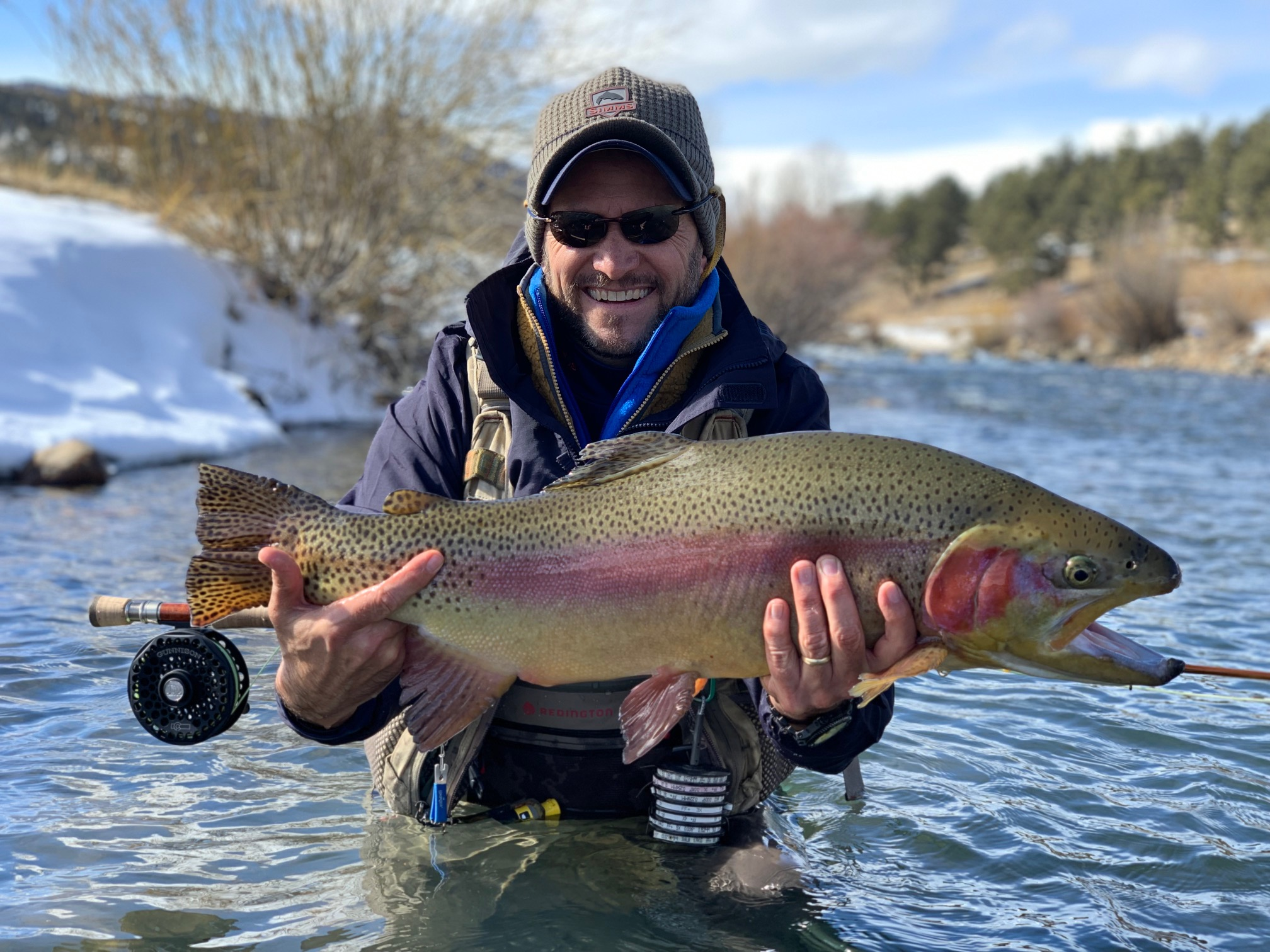 A trophy rainbow trout from the North Fork of the South Platte