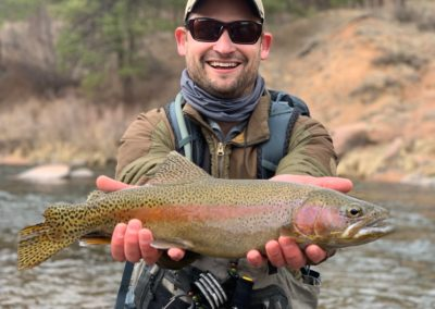A trophy trout from a public water guided fly fishing trip.