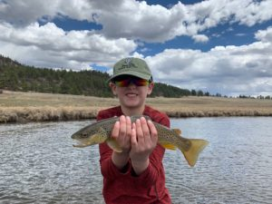 We take kids on guided fly fishing trips.