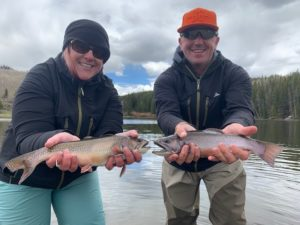 A sweet double with trophy Colorado Brook Trout.