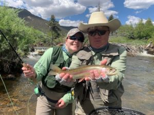 Guided fly fishing on Tarryall Creek.