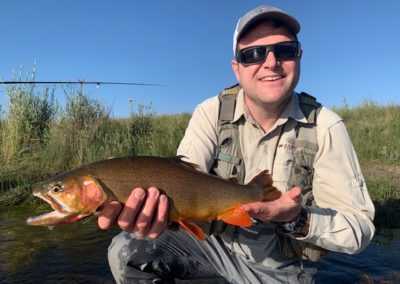 Guided fly fishing on the Dream Stream with this trophy cutthroat trout.