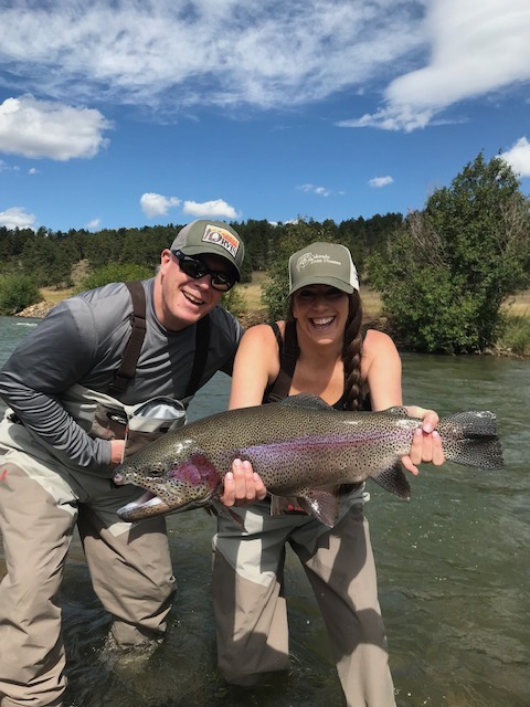 Annual father daughter guided fly fishing trip.