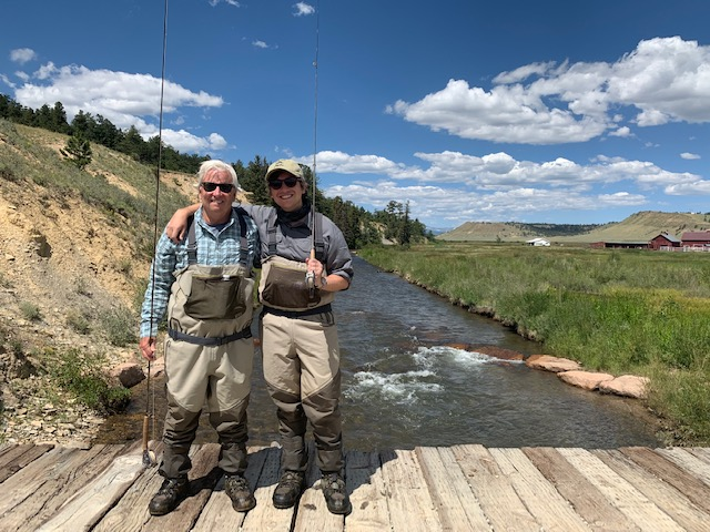 Private Water guided fly fishing trip in South Park Colorado.