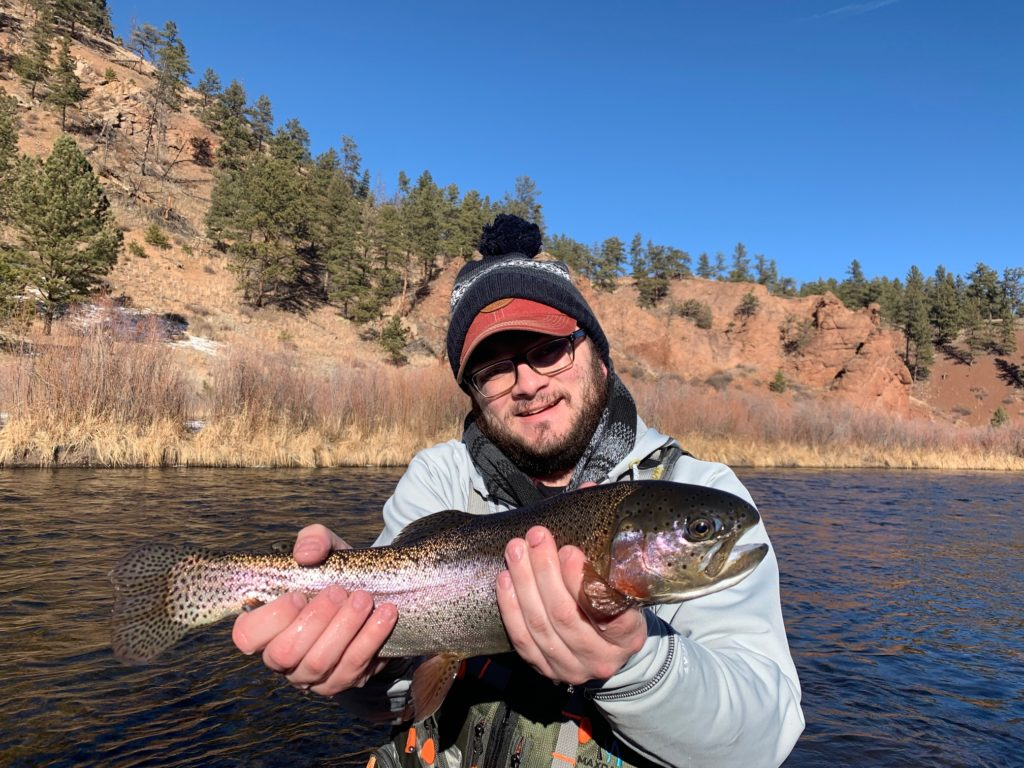 January Rainbow Trout from a winter guide trip