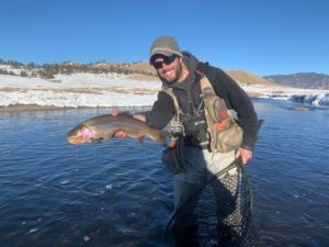 Danny Frank Big winter cut bow from the Dream Stream Stretch of the South Platte Near Deckers.