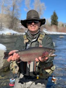 Thick blue river rainbow