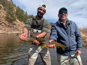 Deckers double from a spring guide trip on the South Platte near Deckers.