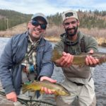 Father son Colorado guided fly fishing trip