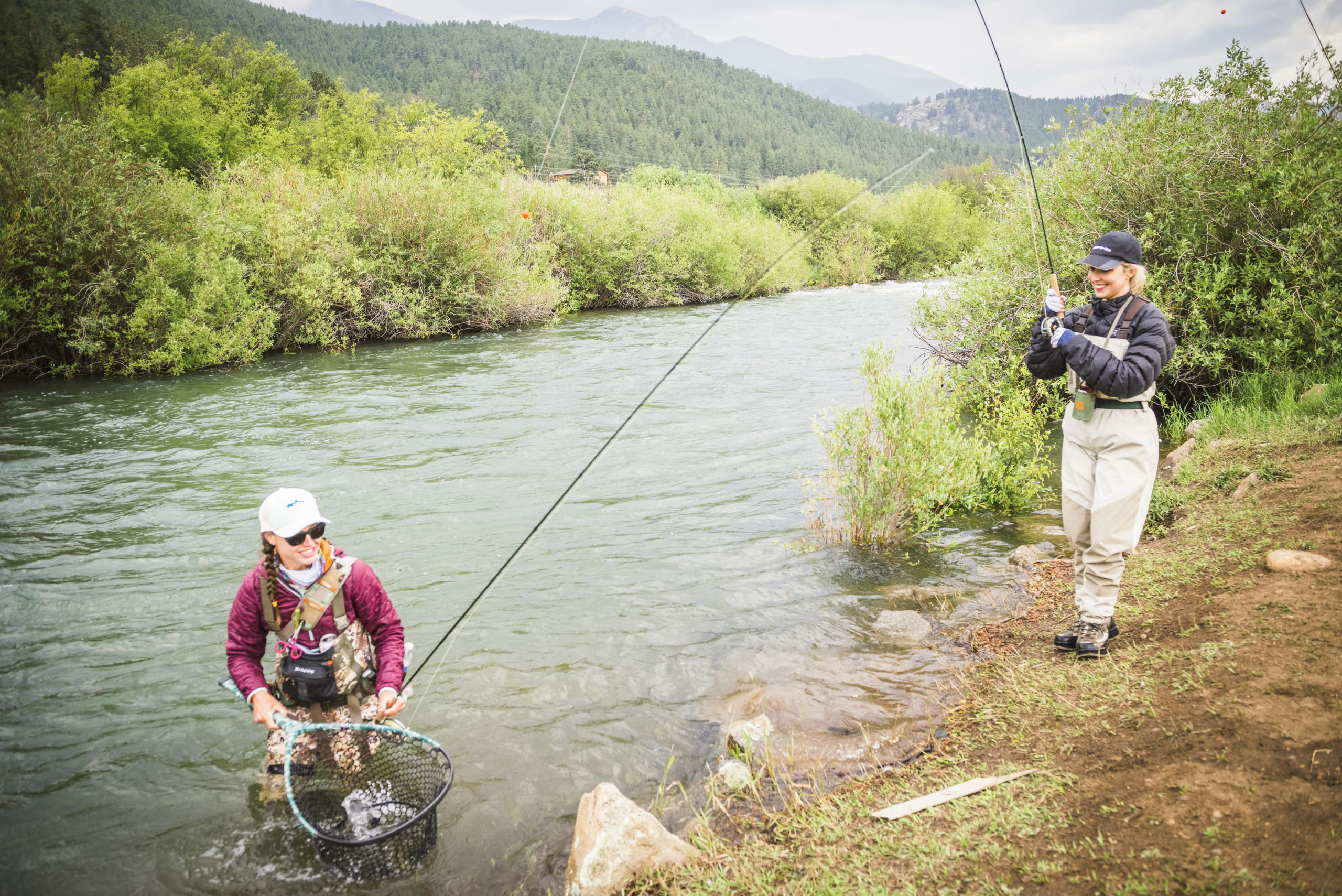 Guided fly fishing trips on private water near Denver.