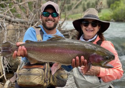 Trophy trout from a private water fly fishing lease near Denver.