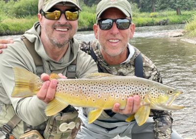 Trophy brown trout from the middle fork of the South Platte.