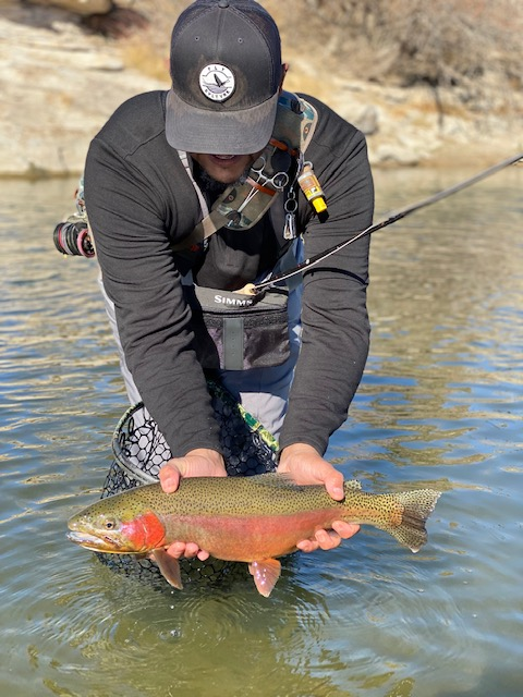Floyd Wright Trout Hunters guide on Arkansas River.